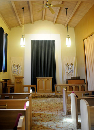 For smaller weddings, University Place Christian Church offers a chapel area that is adjacent to the main sanctuary. Simply beautiful weddings are available through the church at reasonable prices. (Staff Photo by BONNIE VCULEK)