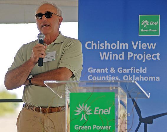 Frank Costanza, from TradeWind Energy (Staff Photo by BONNIE VCULEK)