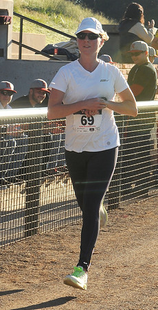 Kelly Mendozzi, 4RKids 5K overall female winner (Staff Photo by BONNIE VCULEK)