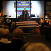 "Enid Police Chief Brian O'Rourke gives the eulogy during the funeral service for Sgt. Richard Allan ""Rick"" Tanner, II, at Oakwood Christian Church Saturday, Sept. 14, 2013. (Staff Photo by BONNIE VCULEK)"