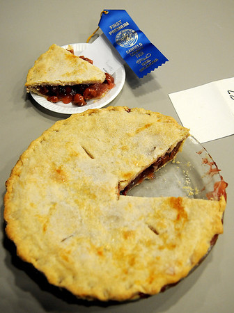 A cherry pie entry places first at the Garfield County Fair Friday, Sept. 6, 2013. (Staff Photo by BONNIE VCULEK)
