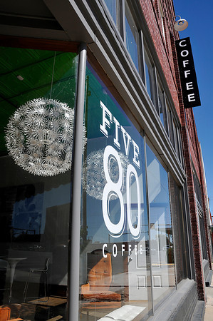 The Five80 Coffeehouse will open their drive through service today, the drive thru will be open any time the coffeehouse is open. One hundred percent of the profits from the coffeehouse goes back to the community. (Staff Photo by BILLY HEFTON)