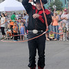 A trick roper entertains the Cherokee Strip Parade crowd during Cherokee Strip Celebration festivities in downtown Enid Saturday, Sept. 14, 2013. (Staff Photo by BONNIE VCULEK)