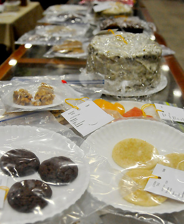 Food entries in the Garfield County Fair inside the Chisholm Trail Expo Center. (Staff Photo by BILLY HEFTON)