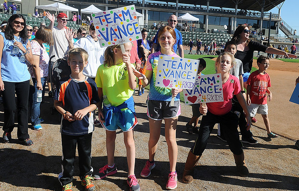 Team Vance begins the 11th annual 4RKids Walk at David Allen Memorial Ballpark Saturday, Sept. 21, 2013. Proceeds from the event support children and adults with special needs. (Staff Photo by BONNIE VCULEK)