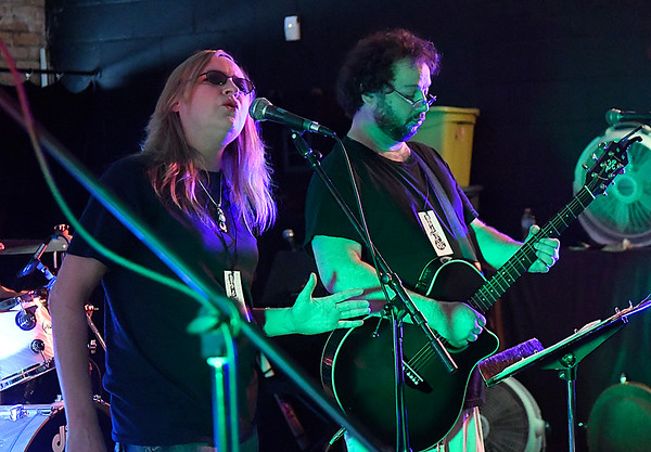 C.C. and Curt Daugherty perform during Fling at the Springs Saturday September 24, 2016. The free concert was moved inside to the Q-Spot due to weather concerns. (Billy Hefton / Enid News & Eagle)