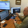 Charles Lord, Senior Hydrologist for the Oklahoma Corparation Commission, talks about the new technology being used to track earthquakes during an interview Wednesday September 14, 2016 in Oklahoma City. (Billy Hefton / Enid News & Eagle)