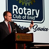 Oklahoma Lt. Governor, Todd Lamb, talks during Rotary Club of Enid's 100th anniversary banquet Thursday September 7, 2017 at the Central National Bank Center. (Billy Hefton / Enid News & Eagle)