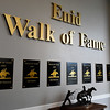 A portion of the Enid Walk of Fame inside the Central National bank Center. (Billy Hefton / Enid News & Eagle)