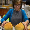 Mary Jane Grayson judges bread at the Garfield County Fair Thursday September 7, 2017 at the Chisholm Trail Expo Center. (Billy Hefton / Enid News & Eagle)
