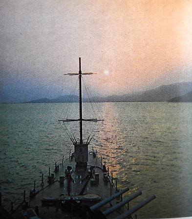 USS Oklahoma City in Da Nang harbor. (Photo Provided)