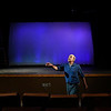 """Stage Manager"" played by Mike Kilman from the Gaslight Theatre production of ""Our Town"" Wednesday September 5, 2018. (Billy Hefton / Enid News & Eagle)"