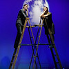 """George"" played by Blake Recknagel and ""Emily"" played by Baily Wilson from the Gaslight Theatre production of ""Our Town"" Wednesday September 5, 2018. (Billy Hefton / Enid News & Eagle)"