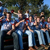 The Chisholm High School players in the homecoming parade Thursday September 26, 2019 in North Enid. (Billy Hefton / Enid News & Eagle)