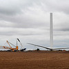 Construction of a wind turbine in the Skelton Creek Wind Farm south of Goltry Tuesday, September 22, 2020. (Billy Hefton / Enid News & Eagle)