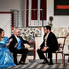 """(left to right) Erika Christner, Christopher McDaniel, Mike Weatherford and Carrie Pendleton from the Gaslight Theatre production of """"Rumors"""". (Billy Hefton / Enid News & Eagle)"""