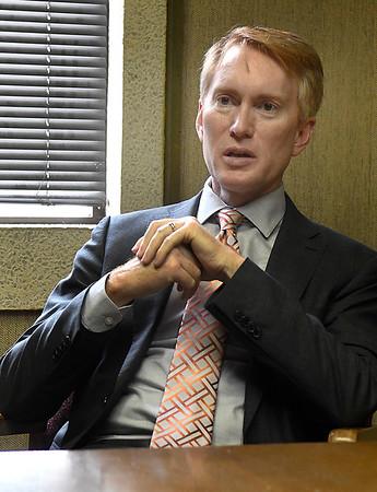 U.S. Sen. James Lankford during an interview Tuesday, September 1, 2020. (Billy Hefton / Enid News & Eagle)