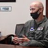 Col. Jay Johnson, Commander 71st Flying Training Wing Vance Air Force Base, talks about the upcoming celebration for the 80th anniversary of Vance Air Force Base. (Billy Hefton / Enid News & Eagle)