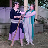"""Lori Coleman (left) and Brooke Phillips rehearse a scene from the Gaslight Theater's Shakespeare in the Park production of """"The Tempest"""" Wednesday, September 8, 2021 at Government Spriings Park. (Billy Hefton / Enid News & Eagle)"""
