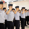 Vance Air Force Base pilots salute during the Presentation of Colors at the 71st Flying Training Wing change of command Wednesday, June 18, 2014. (Staff Photo by BONNIE VCULEK)