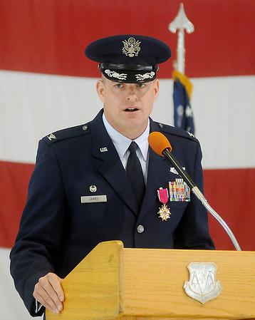 Col. Darren V. James (Staff Photo by BONNIE VCULEK)