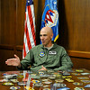 New Wing Commander at Vance Air Force Base, Col. Clark Quinn, during an interview August 5. (Staff Photo by BILLY HEFTON)