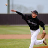 Pioneer's Sage Lamunyon delivers a pitch to a Cashion batter during the OSSAA Class A Regional at the Mustang's John D. Riesen Field Friday, April 26, 2013. Cashion won the game 10-0. (Staff Photo by BONNIE VCULEK)