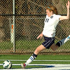 Enid's Sarah Blakley hits a goal kick against Jenks Thursday at D. Bruce Selby Stadium. (Staff Photo by BILLY HEFTON)
