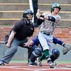 Muskogee's Cayden Cockle gets a base hit against Enid Monday April 18, 2016 at David Allen Ballpark. (Billy Hefton / Enid News & Eagle)