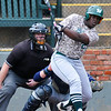 Muskogee's Karrington Ashley bats against Enid Monday April 18, 2016 at David Allen Ballpark. (Billy Hefton / Enid News & Eagle)