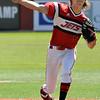 NOC Enid's Ryan LeMoine delivers a pitch against Western Oklahoma Wednesday April 6, 2016 at David Allen Ballpark. (Billy Hefton / Enid News & Eagle)