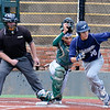 Enid's Gage McNeil heads to first after laying down a bunt against Muskogee Monday April 18, 2016 at David Allen Ballpark. (Billy Hefton / Enid News & Eagle)