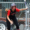 NOC Enid's Cassadie Ray hits a single against NOC Tonkawa Saturday April 22, 2017 at David Allen Memorial Ballpark. (Billy Hefton / Enid News & Eagle)