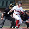 NOC Enid's Griffin Keller hits a single against Carl Albert Wednesday April 12, 2017 at David Allen Memorial Ballpark. (Billy Hefton / Enid News & Eagle)