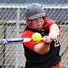 NOC Enid's Kiersten Love hits a home run against Murray State Tuesday April 4, 2017 at Failing Field. (Billy Hefton / Enid News & Eagle)