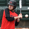 NOC Enid's Matt Conerly dodges an inside pitch against Connors State Monday April 2, 2018 at David Allen Memorial Ballpark. (Billy Hefton / Enid News & Eagle)