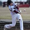 Pioneer's Payton Wingo bats against Chisholm Tuesday April 3, 2018 at Pioneer High School. (Billy Hefton / Enid News & Eagle)