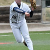 Enid's Colby Jarnagin makes a throw to first Union during the Gladys Winters Tournament Friday April 6, 2018 at David Allen Memorial Ballpark. (Billy Hefton / Enid News & Eagle)