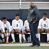 Enid boys soccer coach, Charles Owens, during the game against Muskogee Friday April 20, 2018 at D. Bruce Selby Stadium. (Billy Hefton / Enid News & Eagle)