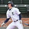 Enid's Brett Russell hits a two RBI single to left against Union during the Gladys Winters Tournament Friday April 6, 2018 at David Allen Memorial Ballpark. (Billy Hefton / Enid News & Eagle)