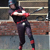 NOC Enid's Shane Nixon hits a single against Pratt CC Tuesday April 2, 2019 at David Allen Memorial Ballpark. (Billy Hefton / Enid News & Eagle)