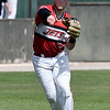 NOC Enid's Alec Buonasera makes a throw to first against NOC Tonkawa Wednesday April 10, 2019 at David Allen Memorial Ballpark. (Billy Hefton / Enid News & Eagle)