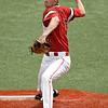 NOC Enid's Kalen McCullough throws a pitch against NOC Tonkawa Wednesday April 10, 2019 at David Allen Memorial Ballpark. (Billy Hefton / Enid News & Eagle)