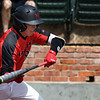 NOC Enid's Shane Nixon lays down a bunt against Carl Albert Wednesday April 3, 2019 at David Allen Memorial Ballpark. (Billy Hefton / Enid News & Eagle)