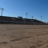 Grandstand and race track at the Enid Speedway Tuesday, April 7, 2020. (Billy Hefton / Enid News & Eagle)