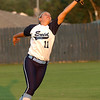 Abby Lee stretches to make a catch against Westmoore Tuesday at Pacer Field. (Staff Photo by BILLY HEFTON)
