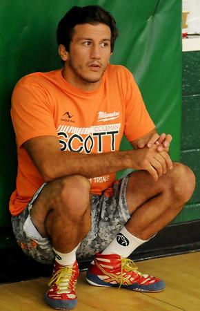 Coleman Scott, Olympic Bronze Medalist and OSU Wrestling Coach (Staff Photo by BONNIE VCULEK)