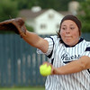 Ally Lewis delivers a pitch against Midwest City Tuesday at Pacer Field. (Staff Photo by BILLY HEFTON)