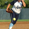 Ally Lewis delivers a pitch against Westmoore Tuesday at Pacer Field. (Staff Photo by BILLY HEFTON)