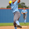 Enid's Marybel Garcia delivers a pitch during a scrimmage at Chisholm High School Wednesday AUgust 4, 2016. (Billy Hefton / Enid News & Eagle)